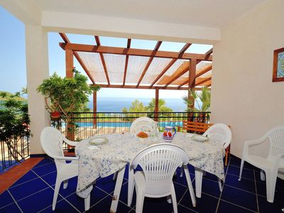 Photo for Villa with spectacular sea views just a stone's throw from the Oriented Natural Reserve of Zingaro