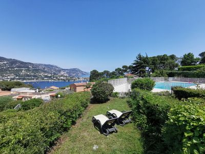 Capucines : little villa in Mont-Boron with pool, garden and tennis court