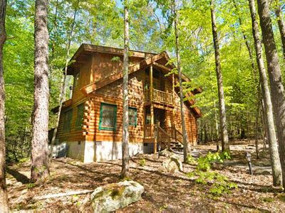 Photo for Save up to 20% on Spring stays   Pet friendly cabin perfect for secluded family hideaway