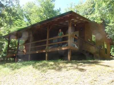 Photo for Peace & Quiet with a tree house feel, GIANT tub, 4.5 miles from Eureka Springs,