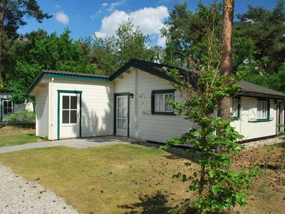 Photo for Nicely furnished chalets, situated in a park with beach and recreational lake