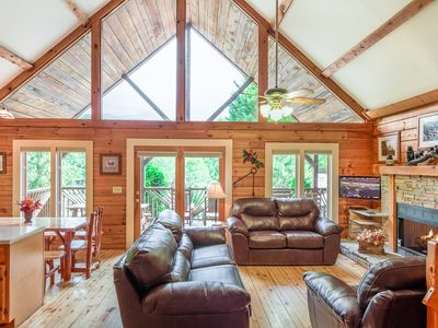 Photo for *****The Summit Cabin!  5 Star!  Pet Friendly, 4 King Beds & Mountain Views!****