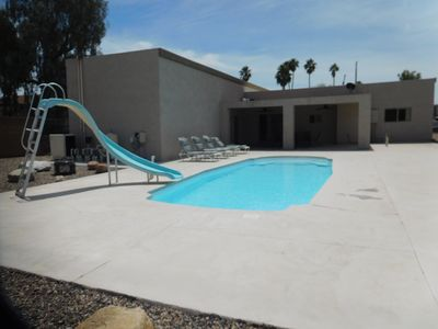 Photo for The Perfect Vacation Home, Salt Water Pool, Pontoon Boat and Downtown Location
