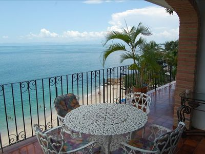 Photo for DIRECTLY on Pristine Sandy Beach,  Charming Oceanfront 3BR/2BA Condo
