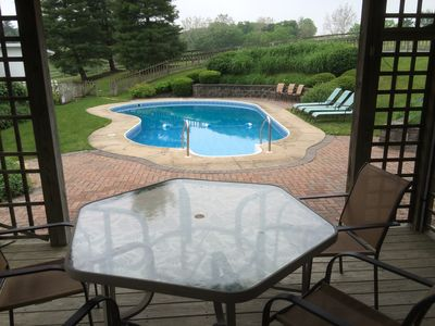 Pool typically open Memorial Day through Labor Day, weather permitting.