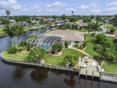 Photo for Gorgeous, canal-front home w/ private pool, large patio & firepit!
