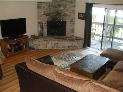 Spacious Living /TV Area with Outdoor Deck for Dining and Relaxing