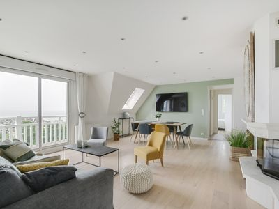 Photo for Beautiful apartment close to Deauville with sea view