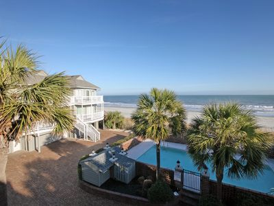 Photo for Oceanfront TH with pool, just a few steps from the beach!