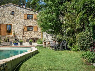 Photo for Beautiful stone house in Orsan, Gard, private pool, pets allowed