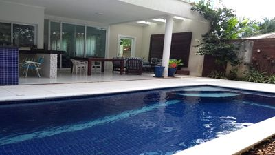 Photo for House Spectacle, pool, churras, games room, 4 suite, 6 bathrooms, Security!