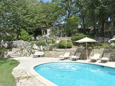 Photo for Magnificent estate with guest rooms, heated swimming pool and tennis court in Provence