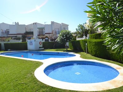Photo for Villa Casalot 13:Private garden-3bedrooms-Wifi,linen included-Sw.pools-close to Miami Playa's creeks