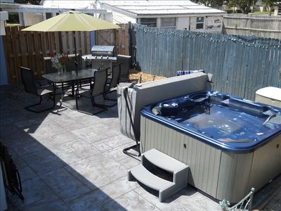 Private Patio, Hot Tub, Grill, Certifed Wildlife Habitat, Shower, Laundry.