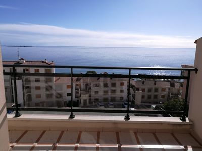 Photo for Spectacular views of the sea.  Next to the beach. 2 bedrooms