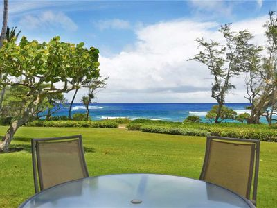 Photo for Beautifully Remodeled 2 Bedroom Ocean Front on Kauai's Coconut Coast.