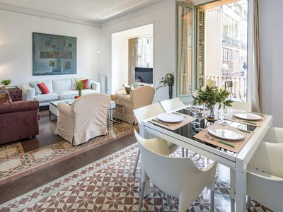 Photo for Beautiful balconies and 3 bedrooms in Eixample