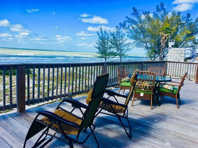 Get comfy and take in the beautiful beach views from your private deck