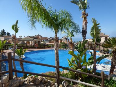 Photo for Beautiful sunny apartment in luxury residence, with sea view Benalmadena