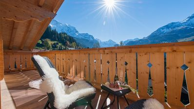 Photo for Snazzy and Chic top-floor Penthouse Apartment in Wengen!