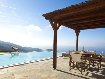 Photo for Pool House-Newly built residence in the closest Cycladic Island to Athens
