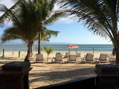 Private beach area & only steps to the pool  Margaritas!!
