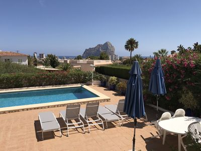 Photo for Calpe, splendid detached villa, private pool, wifi, air con, parking, 4 bedrooms