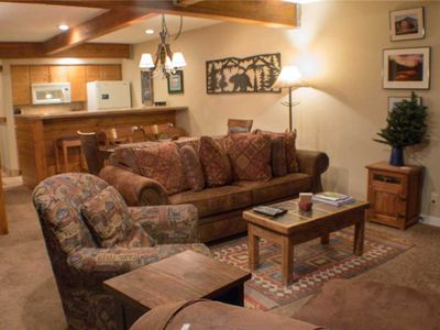 Photo for Comfortable Condo close to Slopes with a Hot Tub!