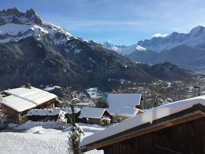 Photo for Nice 4 **** chalet with fireplace in mountain hamlet in the Mont Blanc region