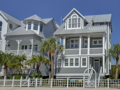 Photo for Ocean View Coast Cottage! Steps from the beach and pool! 3BR/3BA Sleeps 10
