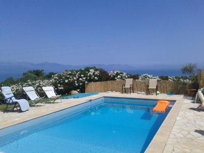 Photo for Villas with pool near Koroni and exceptional panoramic sea view