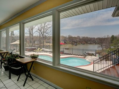 Photo for family vacation or events (wedding) Waterfront Lake wylie home - pool-hot tub