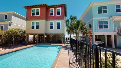 Photo for Beach Mouse, Beachfront Home, Private Heated Pool, Hot Tub, New Floors!