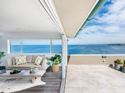 Photo for Spacious penthouse at Sydney's famous Bondi Beach with spectacular views