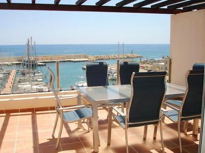 Photo for Luminous Duplex In Front Of The Sea Residencial Marina Del Port 33-34