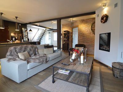 Photo for Superb apartment with private roof terrace of 100m² located in the heart of Spa