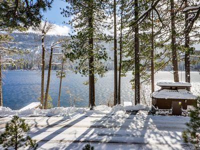 Photo for Dog-friendly, waterfront cabin w/ lake views & access - close to slopes