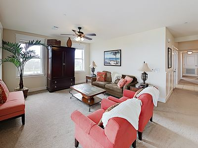 Photo for New Listing! Beachside Penthouse w/ Balcony & Resort Amenities, Walk to Waves