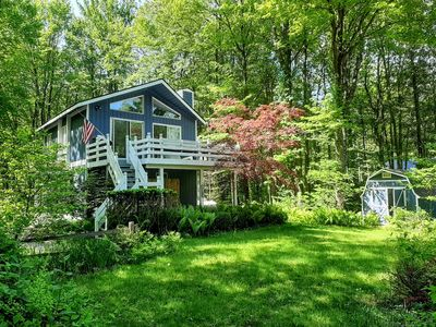 Photo for Beautiful  cottage in secluded  wooded setting near Lake Michigan and Saugatuck