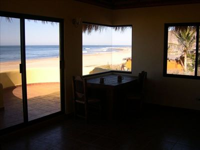 Views of San Pedrito surf point from upstairs dining area and terraza.