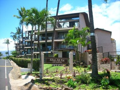 Walking up from Kamaole Beach view of complex
