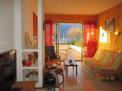 Photo for LARGE STUDIO of 35 m² FACING LAKE BOURGET AND THE GRAND PORT OF AIX-LES-BAINS