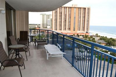 Spacious balcony for all to enjoy!  Great for picnics!