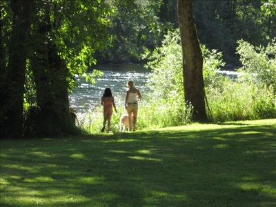 Photo for Our Mckenzie Paradise--Best River Front & Your Own Park! Apt.Rented Separately.