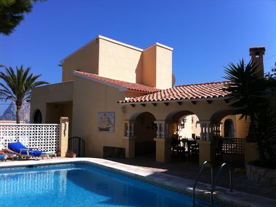 Photo for Calpe, very nice house with private pool, near the sea and the town