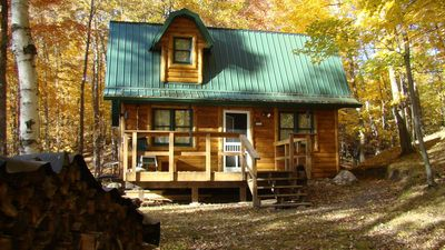 Photo for A cute little lake cabin near Turtle Lake, WI. Get away from it all!