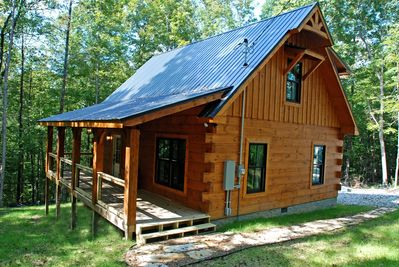 Come visit our new cabin!  It is rustic but beautiful and luxurious.
