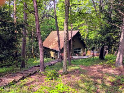 Photo for Cozy Getaway Nestled on a Hillside in the Heart of Hocking Hills!