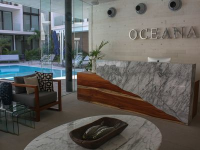 Photo for OCEANA modern Studio! Location! Location! steps to trendy beach and 5th AV +Pool