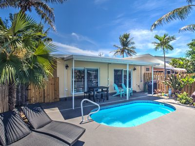 Photo for Casa de Loco Trio - 3 Bedroom Canal-front Pool Home in Key Colony Beach!